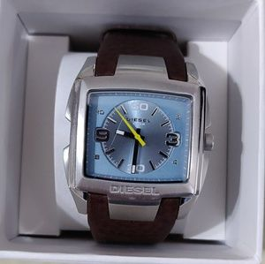 Fossil brown light blue watch